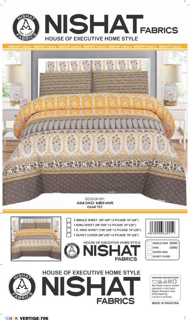 buy nishat bed sheets online
